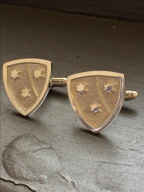 Custom Made Cufflinks For Groom And Groomsman - Wedding Gift - Silver