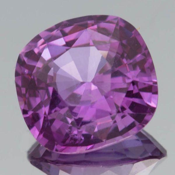 Cushion Cut Purple Sapphire