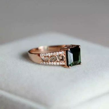 Custom Made 2.02 Carat Tourmaline Ring 14k Rose Gold