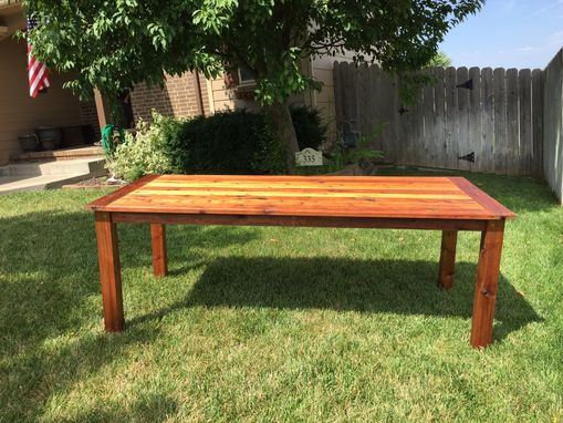 Custom Made Indoor Or Outdoor Solid Cedar Dining Table