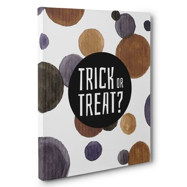 Custom Made Trick Or Treat Polka Dots Halloween Canvas Wall Art