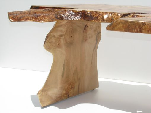 Custom Made Curly Ambrosia Maple Coffee Table