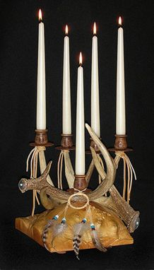 Custom Made Antler Candelabra