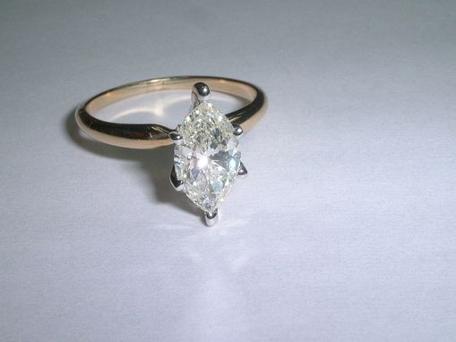 Custom Made Marquise Diamond Engagement Ring
