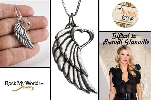 Custom Made Heart And Wing Sterling Silver Necklace