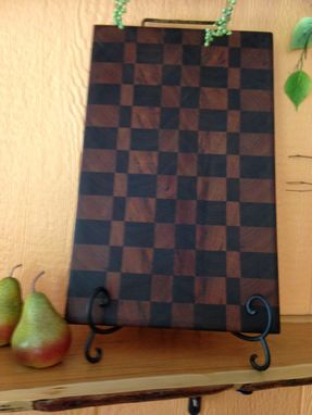 Custom Made End Grain Cherry And Walnut Cutting Board.