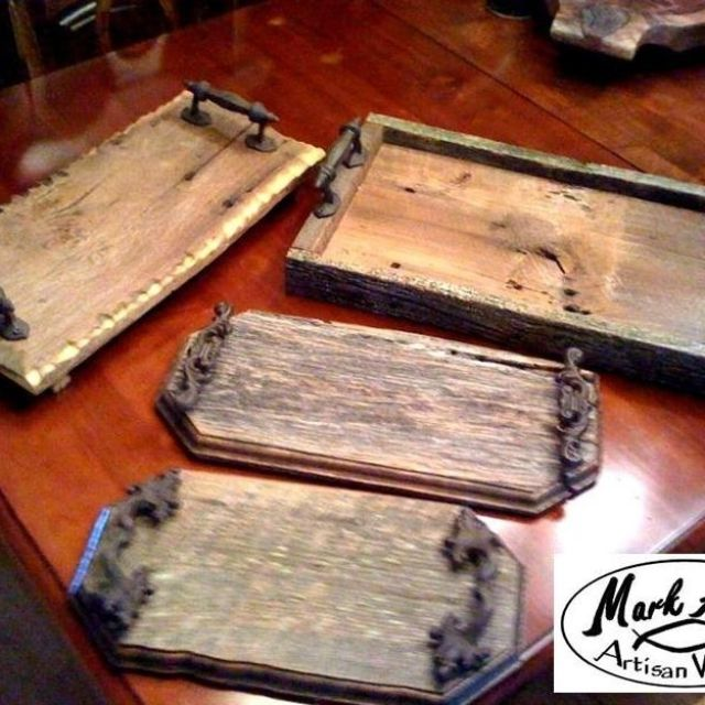95 Barn Board Craft Ideas Beautiful Serving Tray Made Of Salvaged