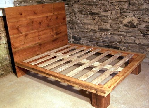 Custom Made Reclaimed Wood Platform Bed From Antique Pine