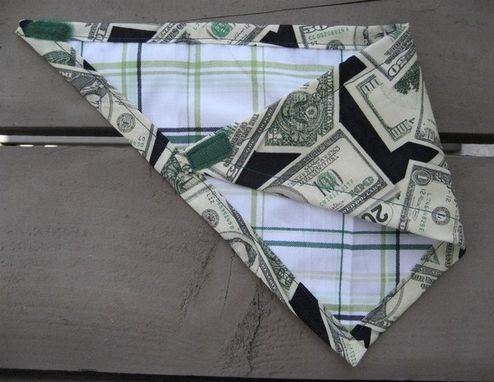 Custom Made Money Baby Bibdana, Reversible Bandana Bib For Baby