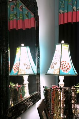 Custom Made Upholstered Vintage 1920'S Chairs,Customs Drapes, Cushions And Lampshades In Designers Guild Fabric