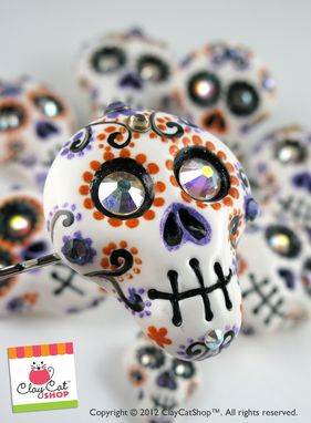 Custom Made Day Of The Dead Skulls - Rings, Pendants, Hair Clips, Weddings, Party