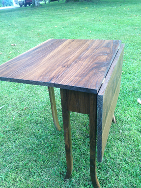 Custom Made Drop Leaf Accent Table