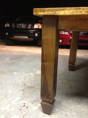 Custom Made Kitchen Table From Reclaimed Church Oak