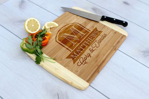 Custom Made Personalized Cutting Board, Engraved Cutting Board, Custom Wedding Gift – Cb-Bam-Matthews