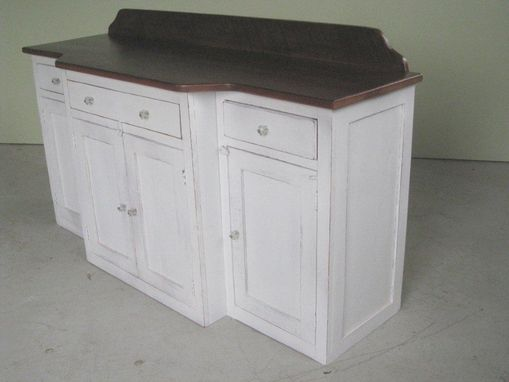 Custom Made White Custom Barn Wood Vanity