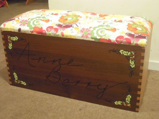 Custom Made Toybox With Carved Name