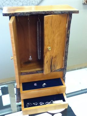 Custom Made Cherry Jewelry Cabinet