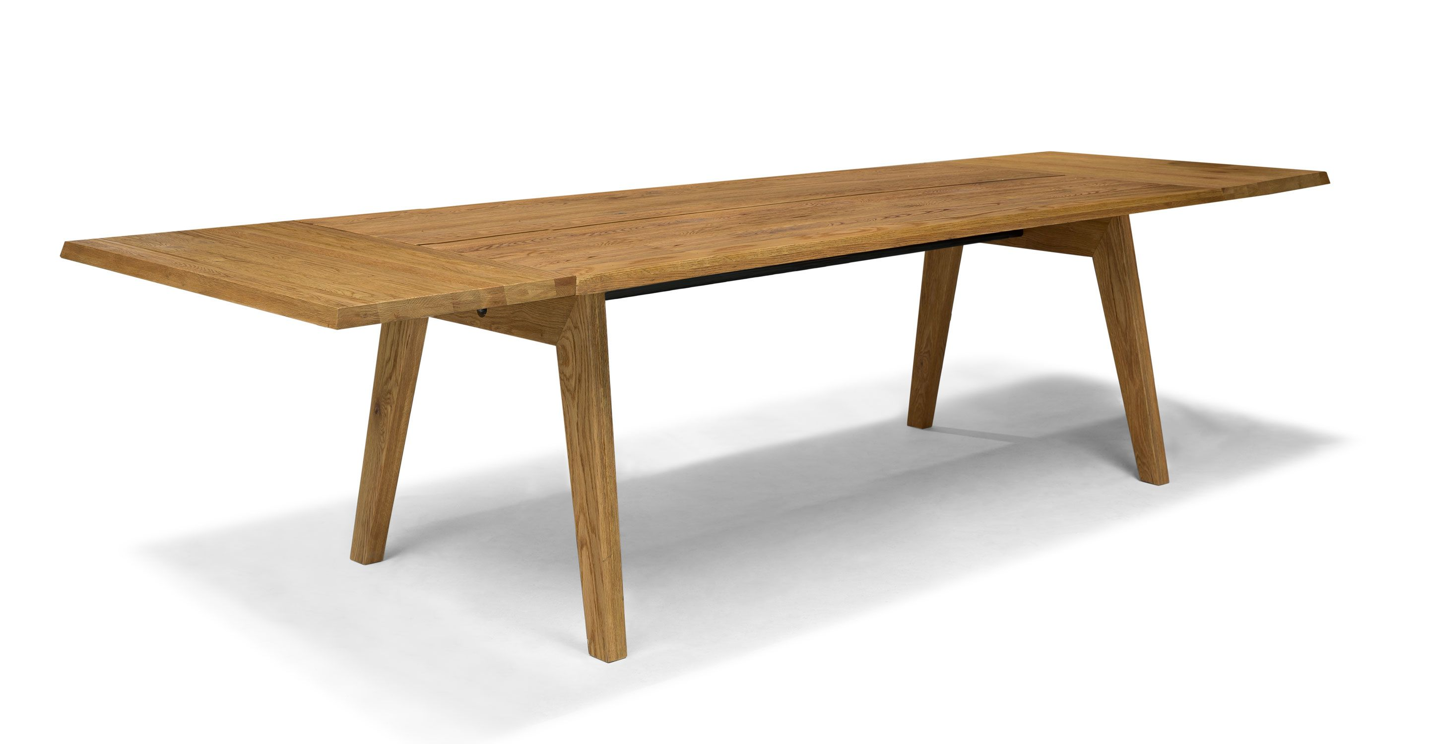 Handmade mid century modern dining table solid oak for Modern oak dining table