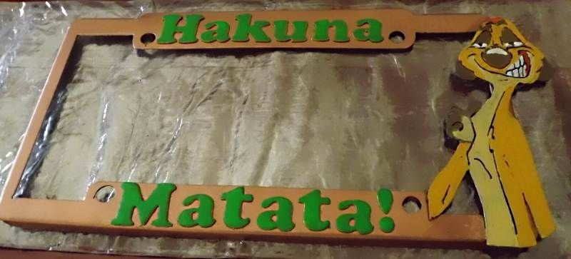 custom made custom license plate holder