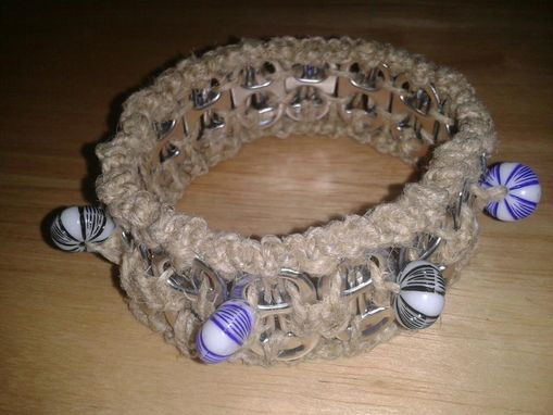 Custom Made Hemp Macrame Pop Tab Cuff Bracelets