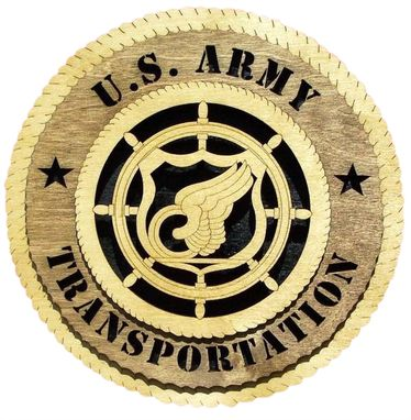 Custom Made U.S Army Transportation Wall Tribute, U.S Army Transportation Hand Made Gift