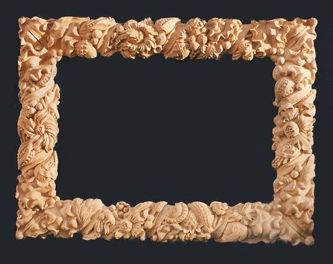 Custom Made Wood Carved Mirror Frame