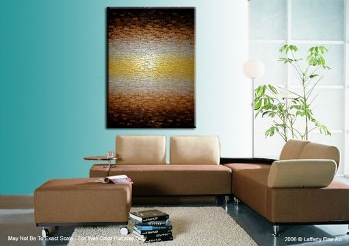 Custom Made Metallic Art, Original Abstract Painting, Modern Palette Knife Painting, 48x36, Lafferty