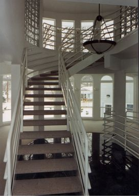 Custom Made Painted Steel Stair And Balcony Railings
