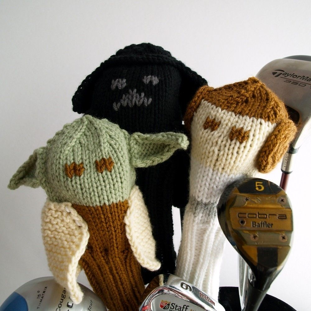 Handmade Knit Pattern Golf Club Cover Star Wars Collection Pdf By