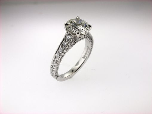 Custom Made Pave' Engagement Ring