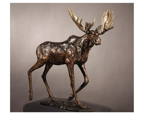 Custom Made Bronze Moose Sculpture