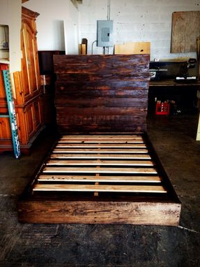Custom Made Rustic Full Size Bed