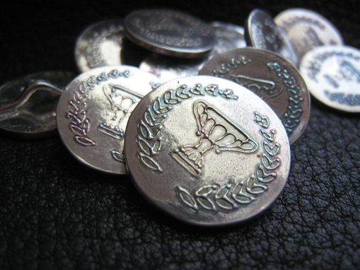 Custom Made Custom Silver Blazer Buttons In Solid Fine Or Sterling Silver