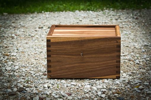 Custom Made Walnut Handgun Lock Box
