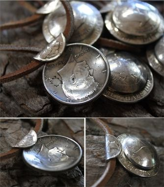 Custom Made Mens Silver Coin Unisex Necklace - $95