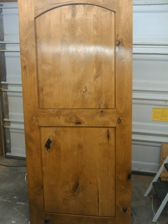 Hand made knotty alder entry door by wood things ii for Custom made wood doors