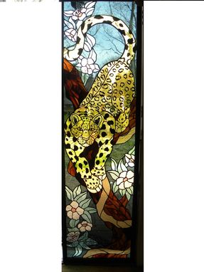 Custom Made Stained Glass Window Of A Leopard Window Has Sold.