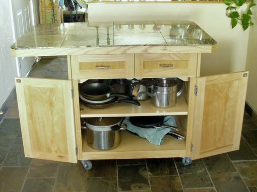 Custom Rolling Kitchen Island By Accent Products Company