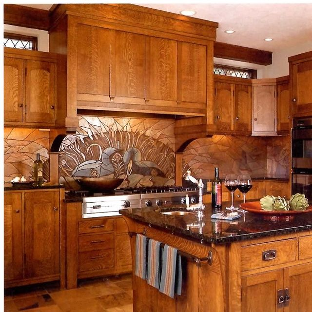 Hand Made Arts Crafts Kitchen Remodel Of Cherry Wood By Cabinets Design Iron Llc