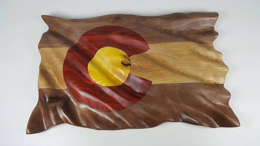 Custom Made Hand Carved Colorado Flag