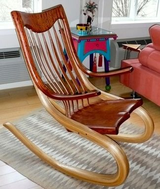 Custom Made Bentwood Rocking Chair Made From Bubinga
