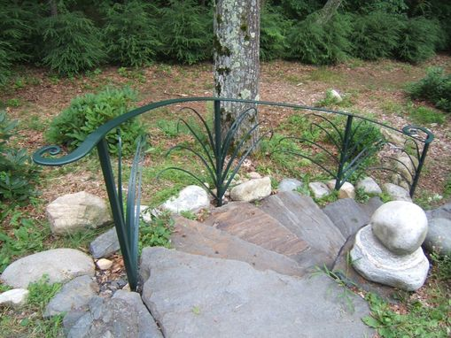 Custom Made Forged Iron Day Lily Railing
