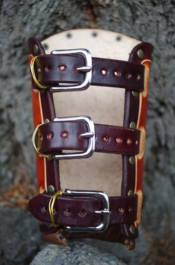 Custom Made Tribal Bracers, Leather Armor