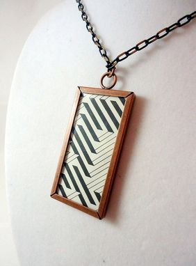 Custom Made Giraffe Dictionary Page Necklace In Metal Copper Bezel