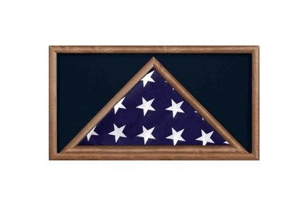 Custom Made Large Military Flag And Medal Display Case