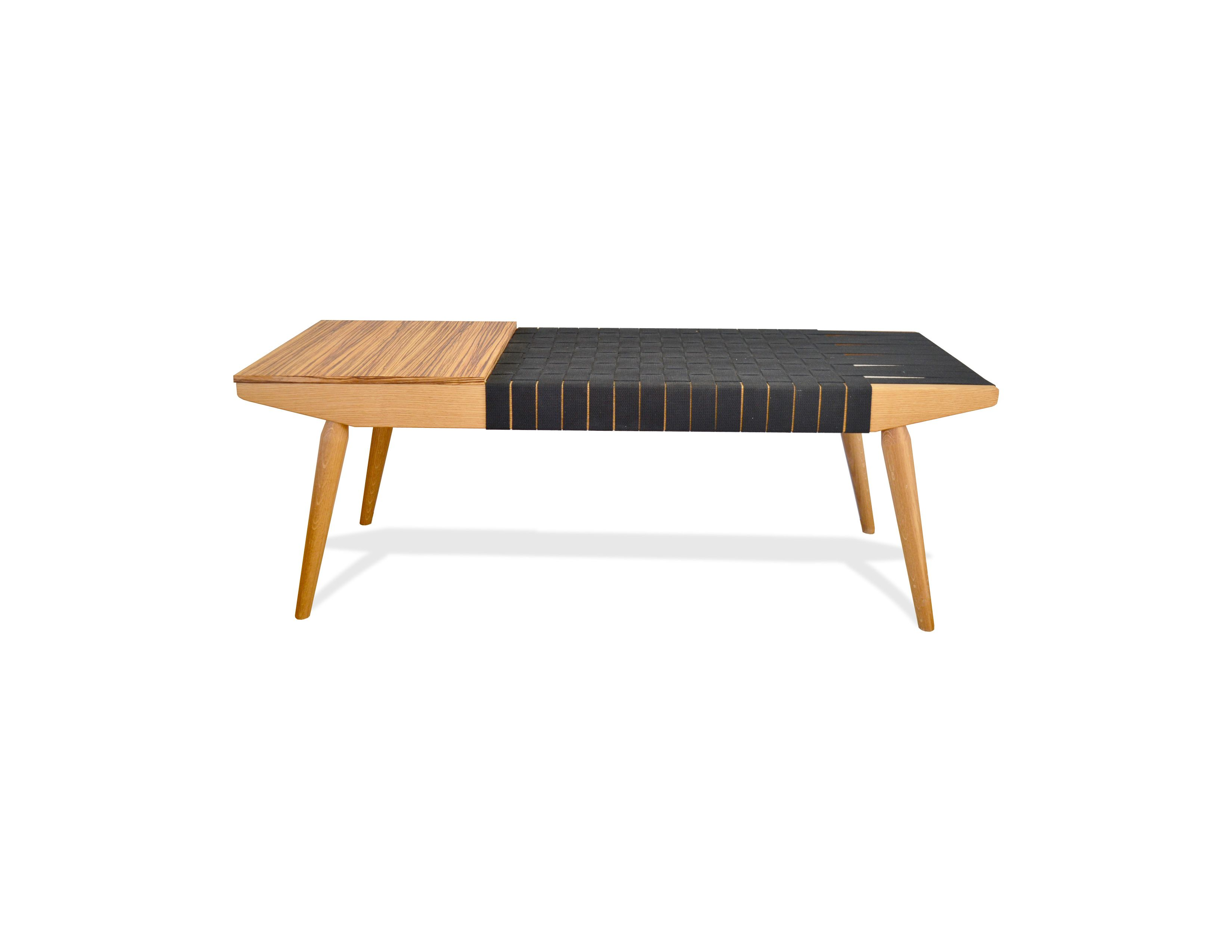 Hand Crafted Webbed Bench by Blak Haus Furniture