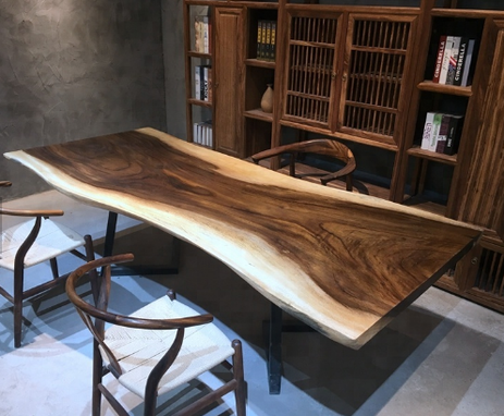 Custom Made Oem Live Edge Solid Wood Table