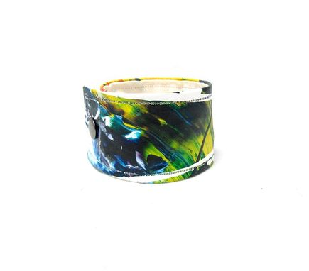 Custom Made Mens Large Cuff - - Colorful Masculine Bracelet - Made With Organic Hemp Linen Canvas