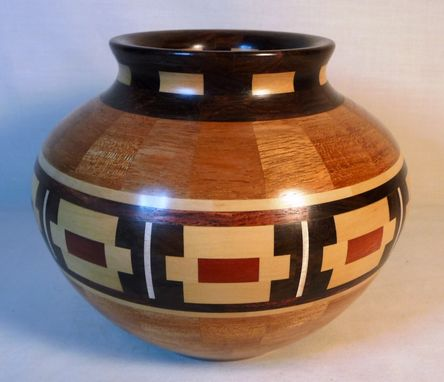 Custom Made Segmented Wooden Bowl With Southwestern Decor