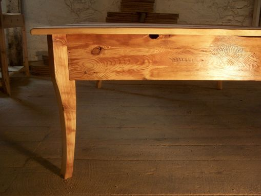 Custom Made Raised Platform Bed From Reclaimed Antique Pine